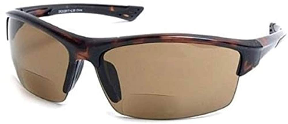 Bifocal Safety Sport Wrap Reading Sunglasses Readers for Men and Women