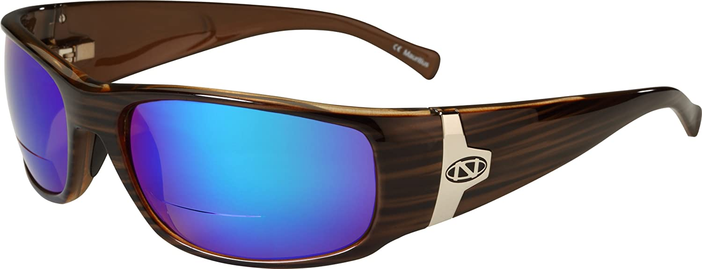 ONOS Ripia Polarized Sunglasses (+2.5 Add Power), Brown, Green/Amber Lens