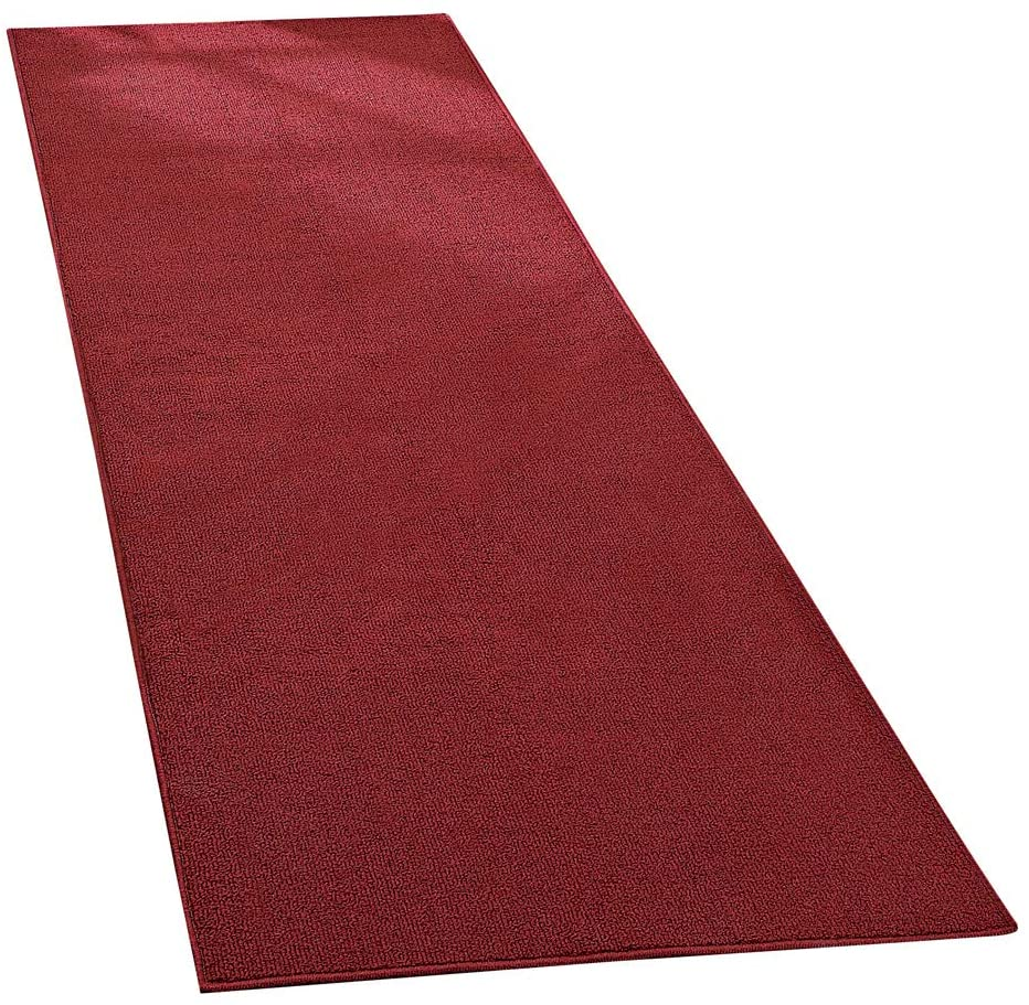 Collections Etc Extra-Wide and Extra-Long Skid-Resistant Floor Runner Rug for High-Traffic Flooring Areas, Including Entryways, Hallways, Foyers and Kitchens, Brick, 28