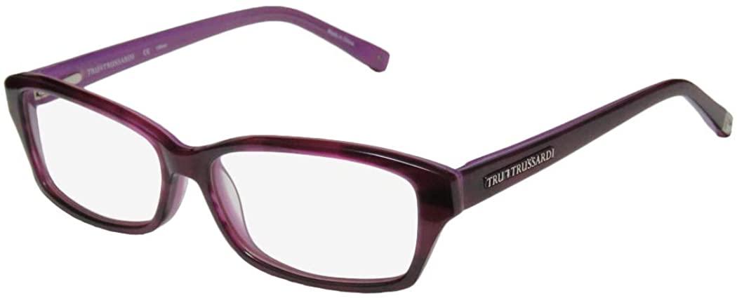 Trussardi 12722 Mens/Womens Designer Full-rim Spring Hinges Contemporary Style Eyeglasses/Eye Glasses