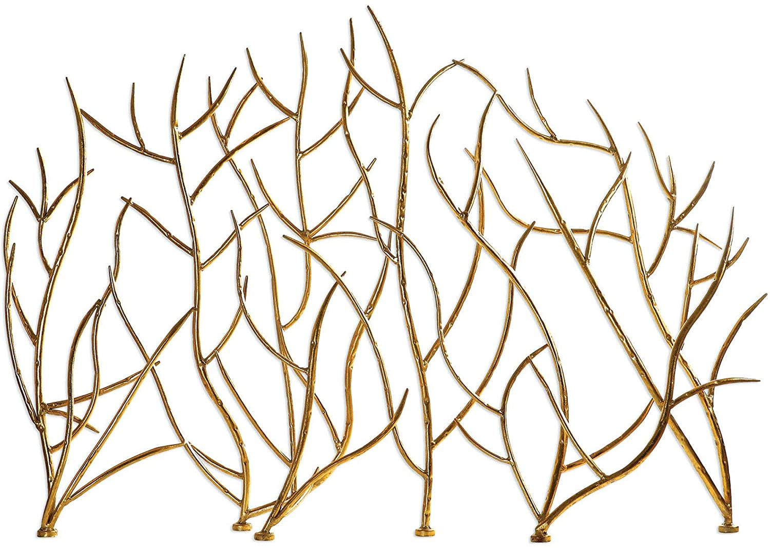 "Diva At Home 31.89"" Gold Branches Decorative Fireplace Screen"