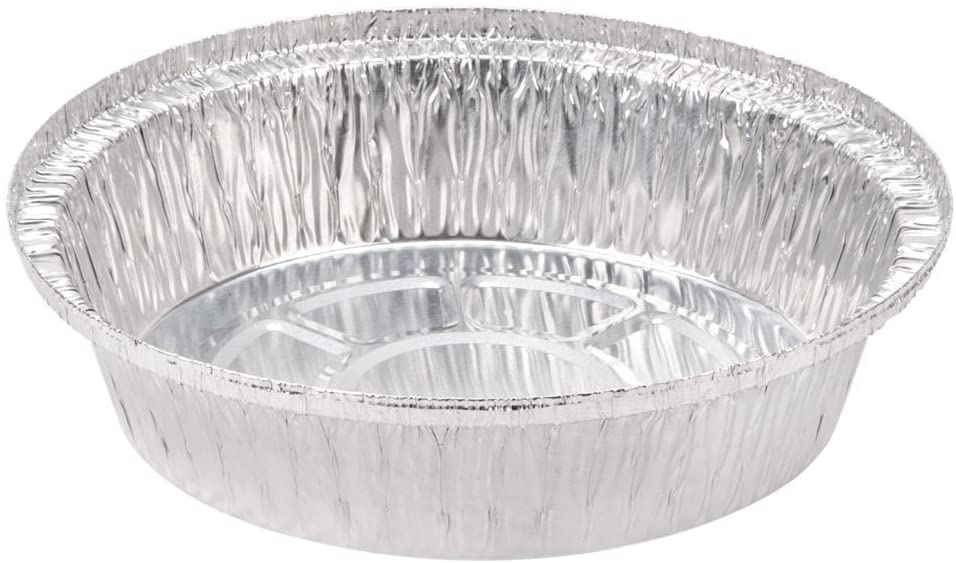 SafePro 9-Inch Round Aluminum Foil Pan, (Case of 25), Foil Bakeware, Foil Baking Pans