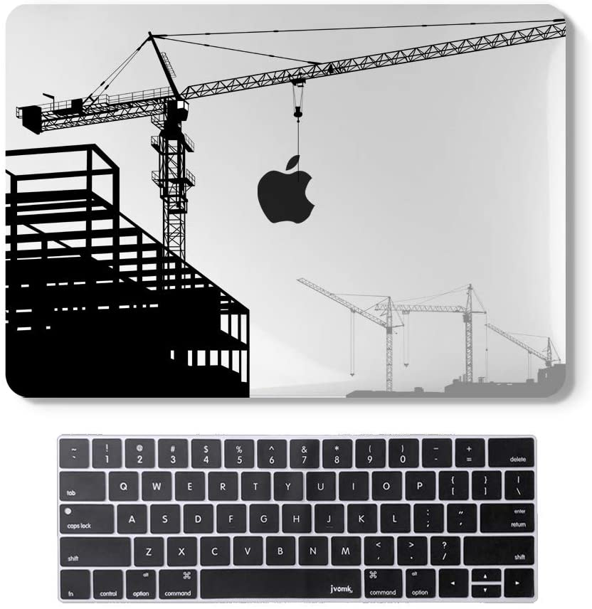 MacBook Pro13InchCase 2020 Release A2251 A2289 Hard Case Shell Cover & Keyboard Cover with Touch Bar and Touch ID for Apple 13inch MacBookProCase (Building Crane)