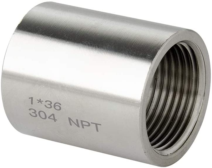 Quickun 304 Stainless Steel Pipe Coupling Fitting, 1