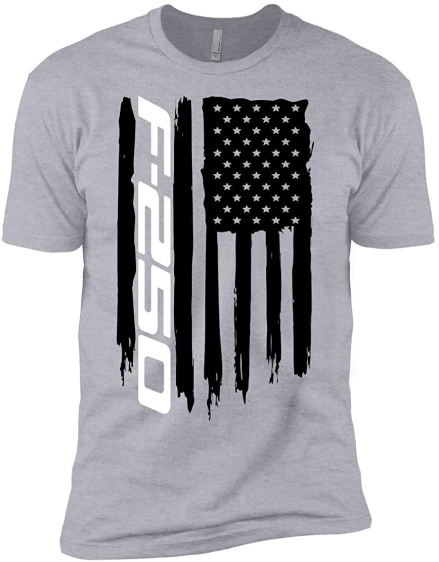 WheelSpinAddict Boys' F-250 Super Duty American Flag T-Shirt