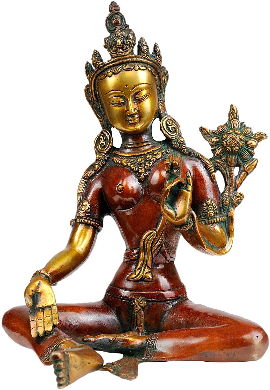 Goddess Green Tara - Brass Statue