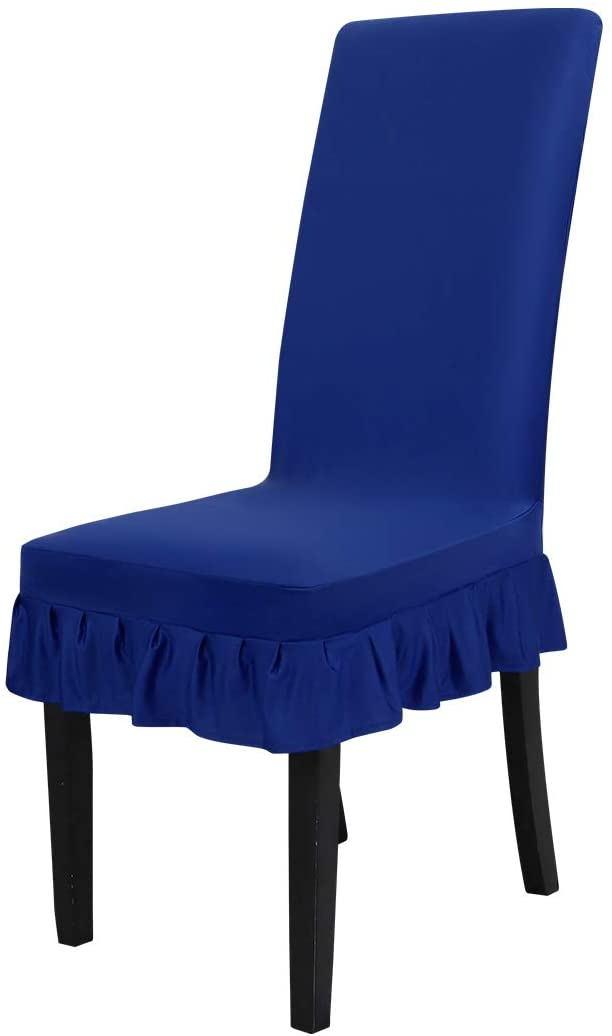PiccoCasa Stretch Chair Cover Removable Washable Protectors Dinning Room Royal Blue
