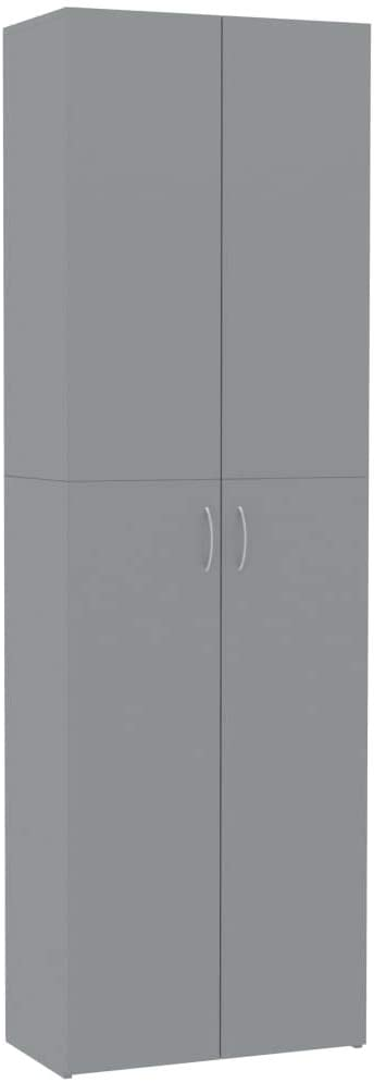 Unfade Memory Office Cabinet Filing Cabinets with Doors and Shelves,Storage Cabinet for Living Room, Kitchen and Office (Gray)