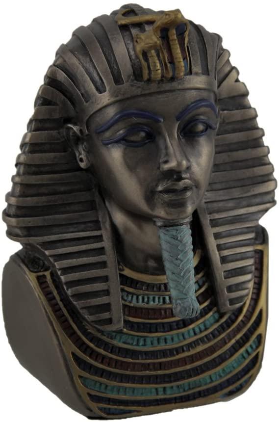 Veronese Design Metallic Bronze Finished King TUT Death Mask Mini Statue
