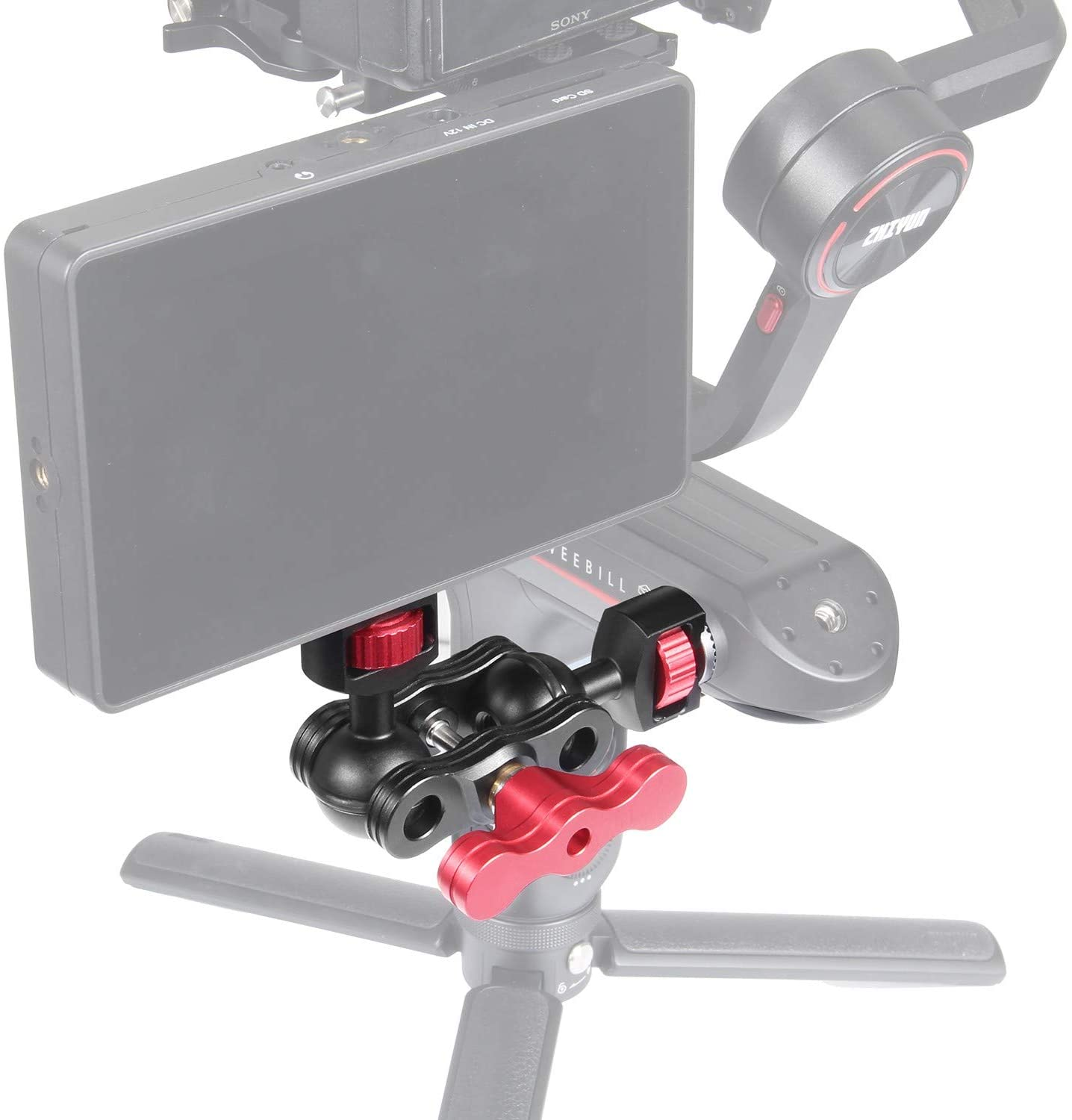 Eachrig Magic Arm with 1/4-20 and Zhiyun Rosette Mount for Zhiyun Weebill S/Weebill Lab/Crane 3 Camera cage Camera Monitors Viewfinders Accessories