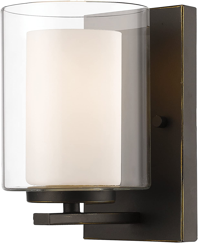 Z-Lite 426-1S-OB 1 Light Wall Sconce, Olde Bronze