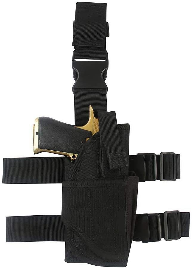 Gexgune Outdoor Hunting Combat Legs Hanging Gun Holster Tactical Nylon Gun Holster Universal Pistol Equipment (5 Colors Optional)