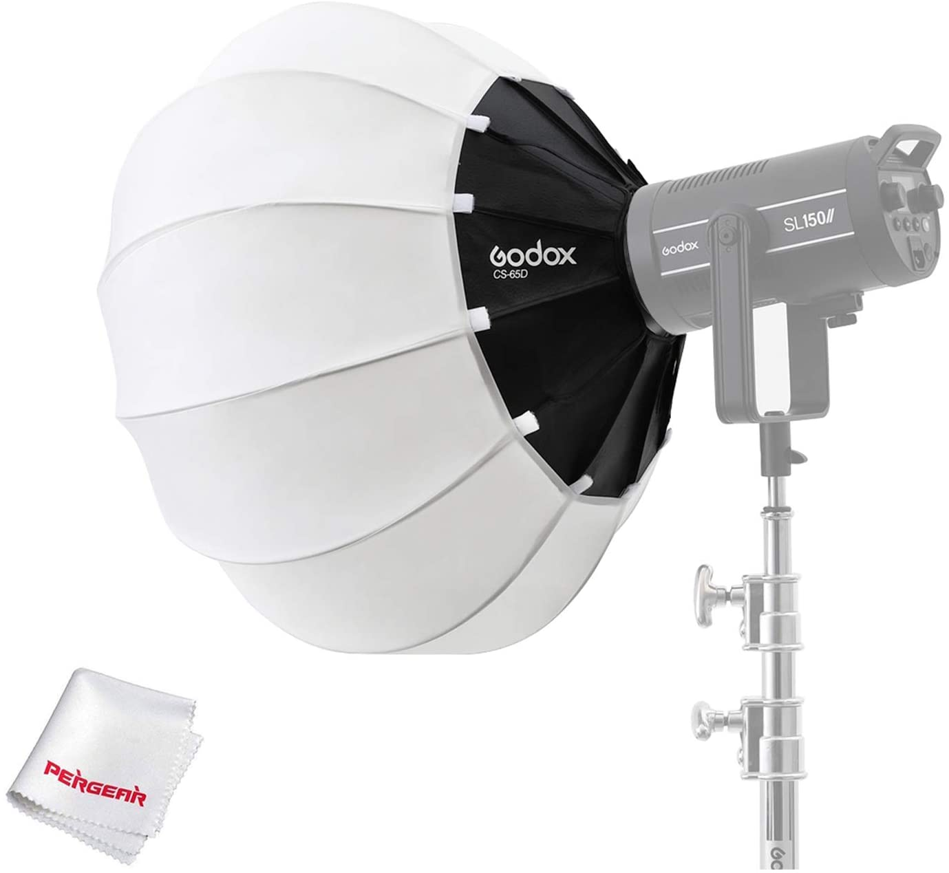 Godox CS-65D Lantern Softbox Soft Light Modifier, for Aputure 300D Mark II 120D Godox SL-60W SL150W II FV150 AD300PRO AD400PRO AD600BM VL150 VL300 and Other Bowens Mount Light