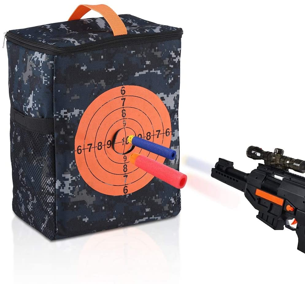 Hztyyier Targets Pouch Large Capacity Storage Portable Equipment Bag for Nerf N-Strike Elite, Mega, Rival Series Guns Darts