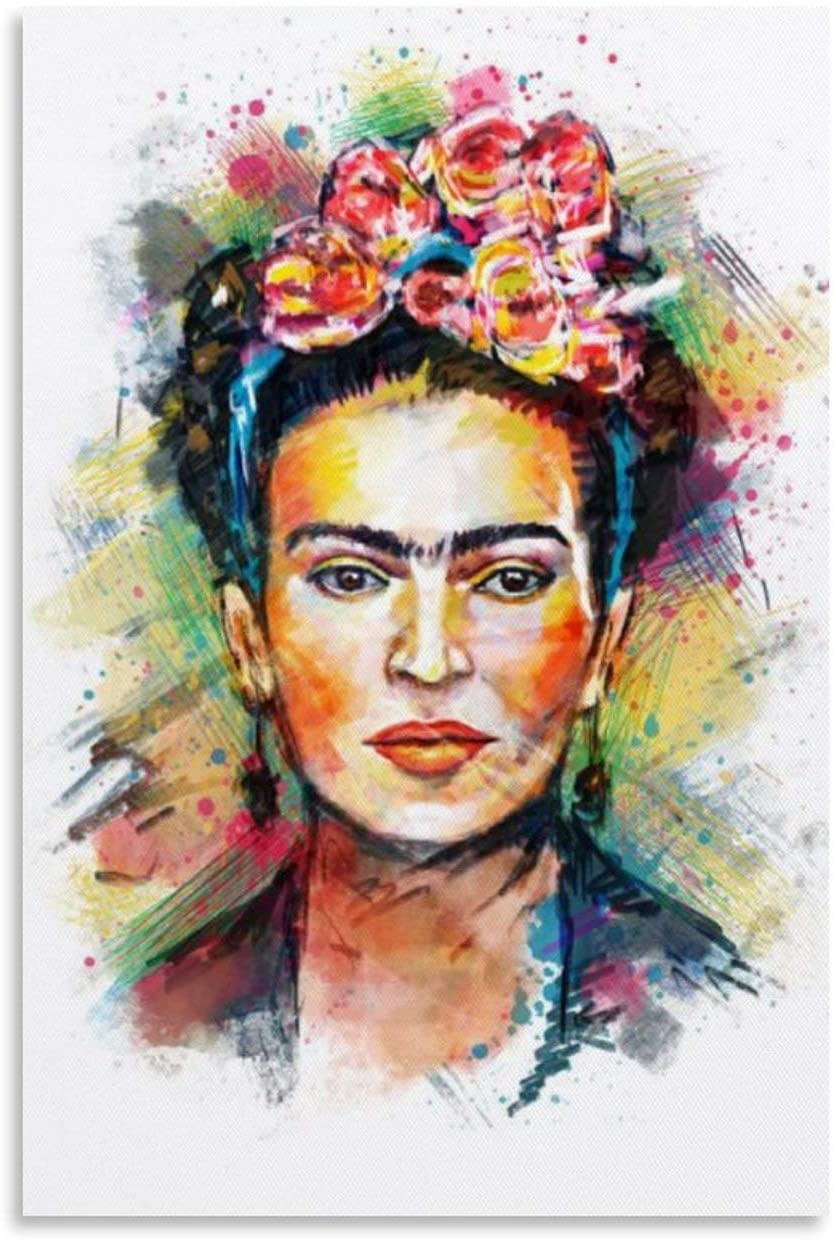 QSCFT Frida Kahlo, Mexican Celebrity Canvas Art Poster and Wall Art Picture Print Modern Family Bedroom Decor Posters 16x24inch(40x60cm)
