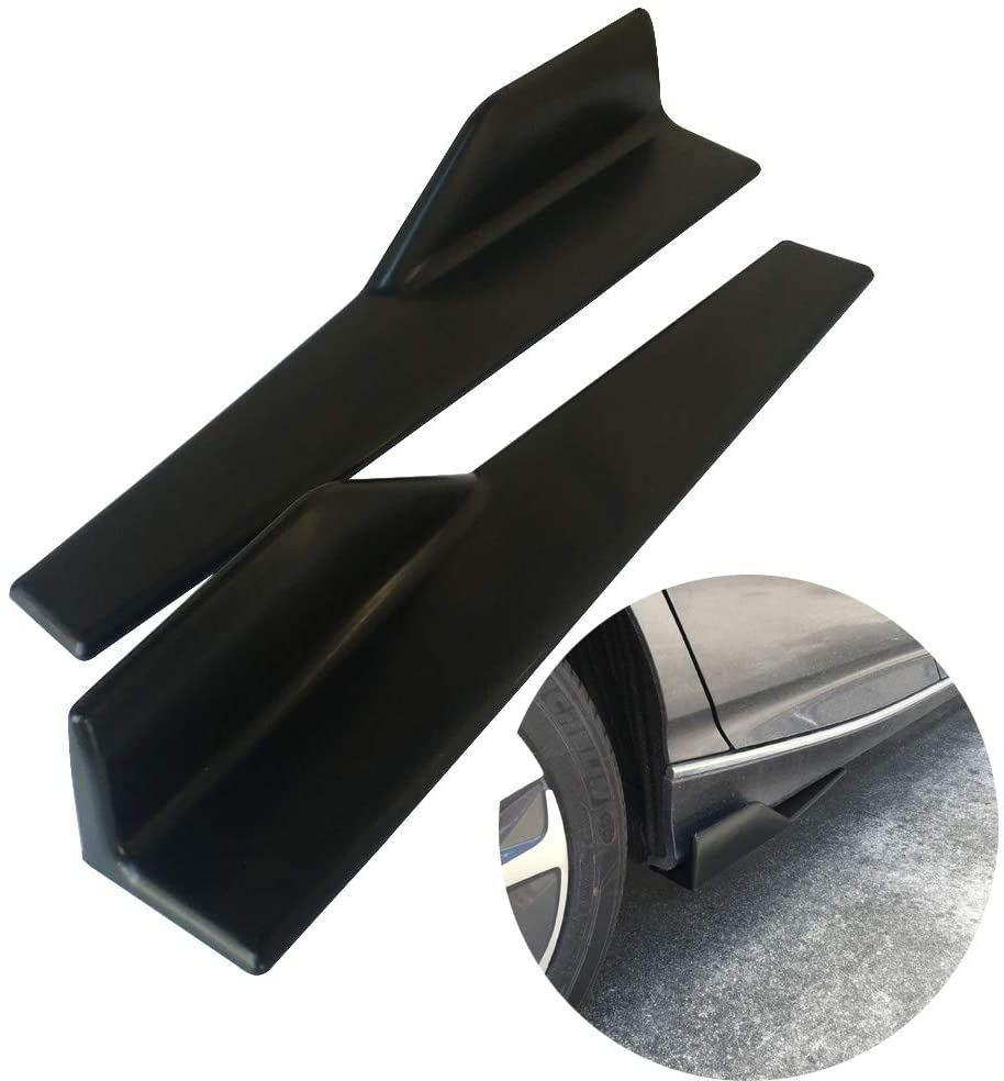 Left/Right Black PP Universal Rear Side Skirt Winglets Diffusers Compatible With Car Truck SUV
