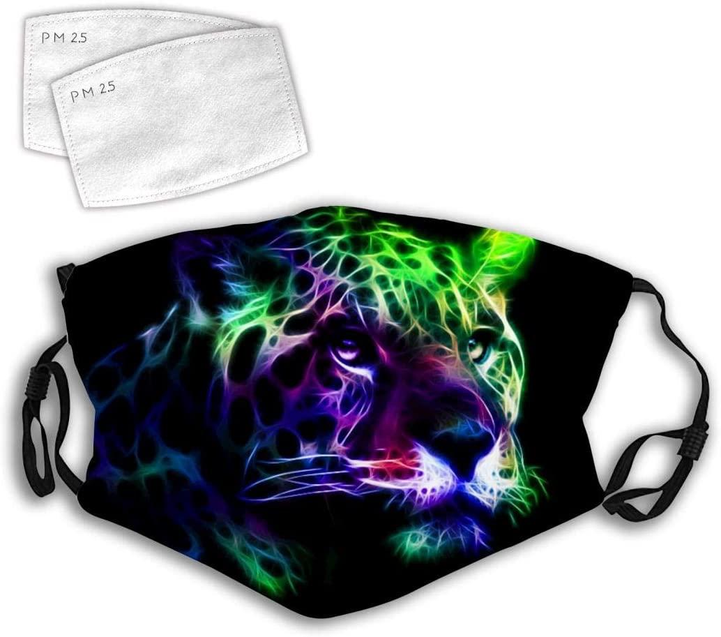 166 Leopard Leopard Wen Leopard Hua Mouth Covers 3D Design Fashion Dustproof Unisex with Adjustable Elastic Strap