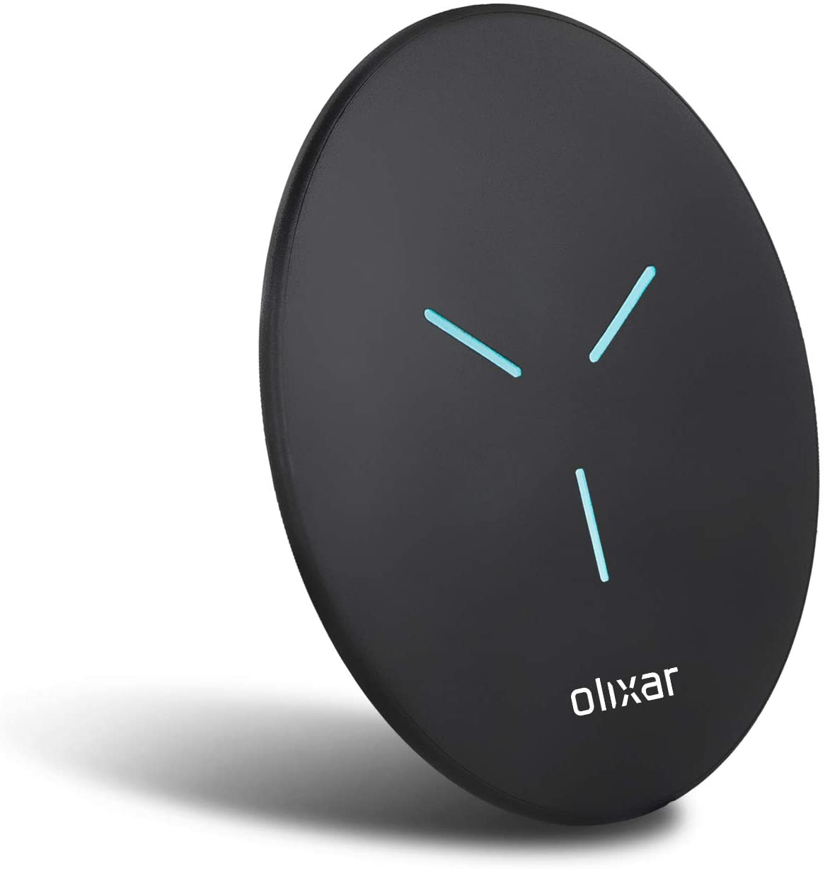 Olixar Fast Wireless Charging Pad - 10W Fast Wireless Charger - LED Indicator - Ultra Slim and Lightweight - Compatible with iPhone, Samsung and Android and All Qi Enabled Smartphones and Devices