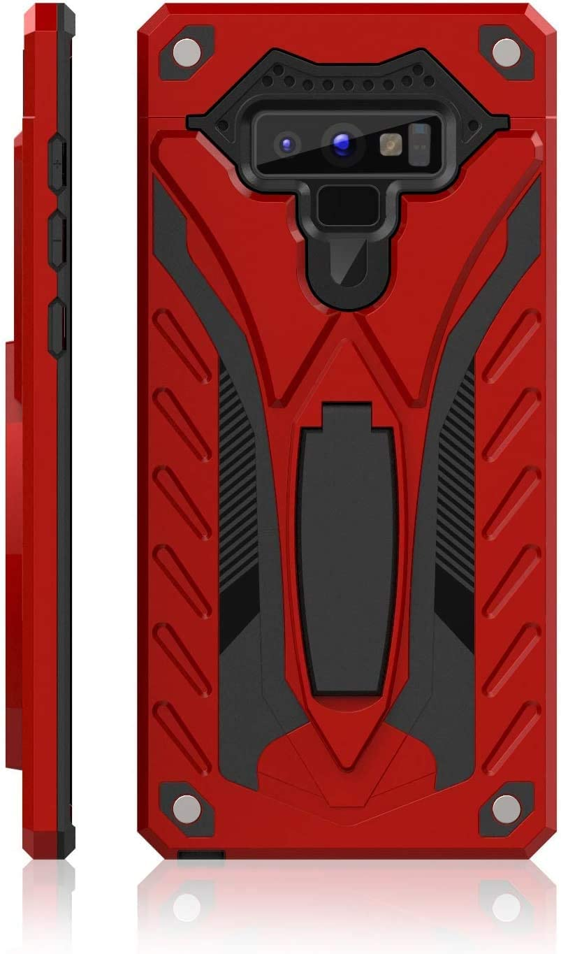 Samsung Galaxy Note 9 Case   Military Grade   12ft. Drop Tested Protective Case   Kickstand   Phone Case   Compatible with Galaxy Note 9 (Red N9)