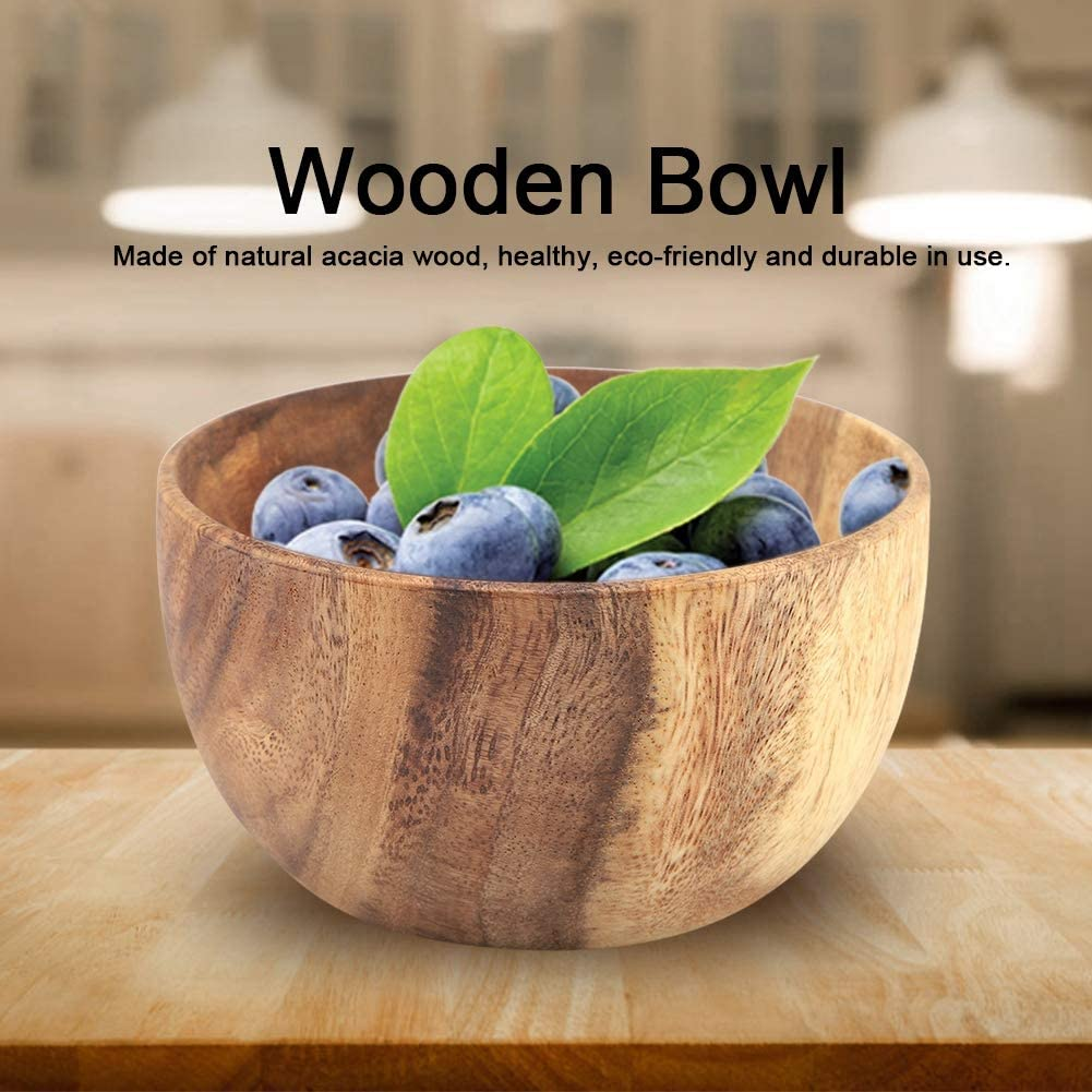 Wooden Bowl, Smooth Light Wooden Soup Bowl, Durable Wooden Salad Bowl, for Soup for Salad(137cm)