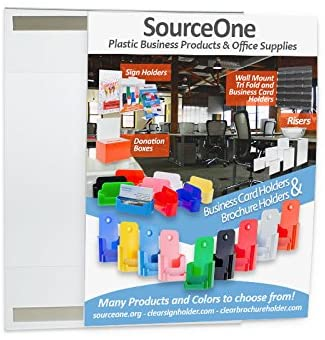 Source One 4 x 6 Inch Velcro Removable Peel and Stick Clear Sign Holder Ad Frame Picture Frame (S1-46velcro)