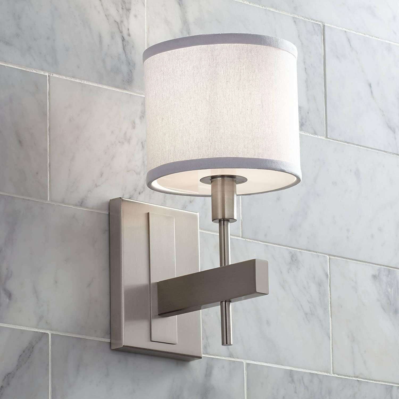 Orson Modern Wall Lamp Satin Nickel Hardwired 13 1/2