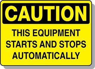 Beaed - CAUTION This Equipment Starts and Stops Automatically