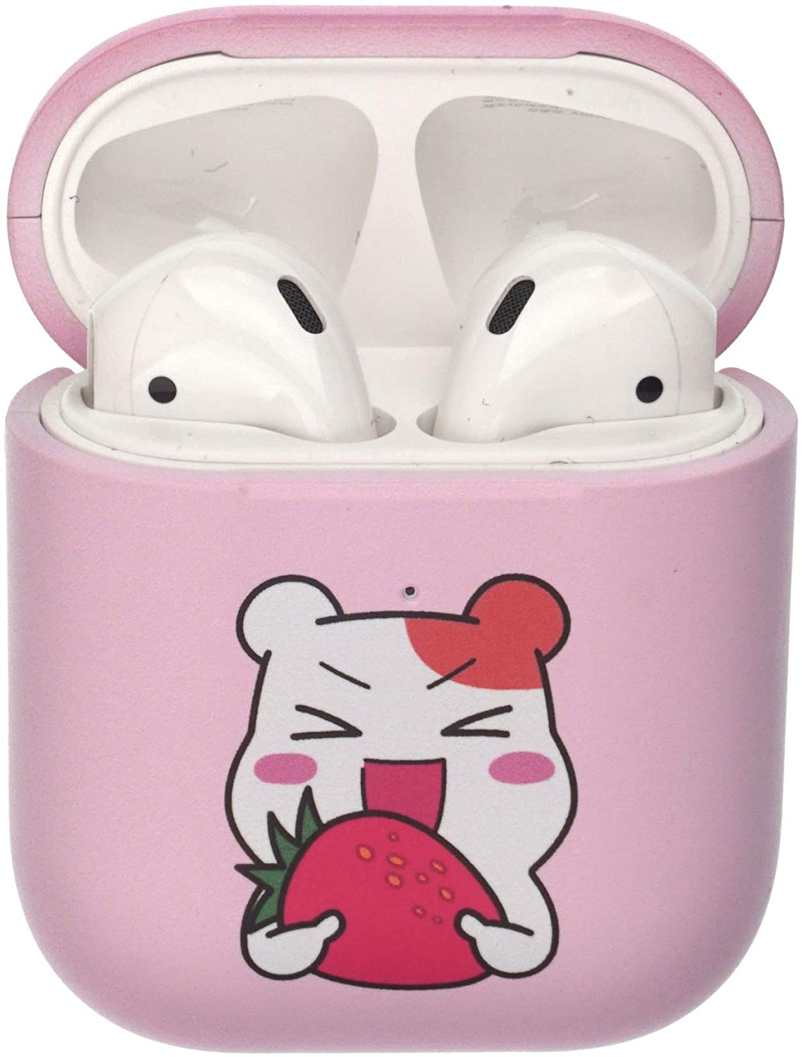 ORUCHUBAN EBICHU AirPods Case Protective Hard PC Shell Cute Cover [Front LED Visible] Accessories Compatible with Apple Airpods 1 & AirPods 2 - Fruit Ebichu Strawberry