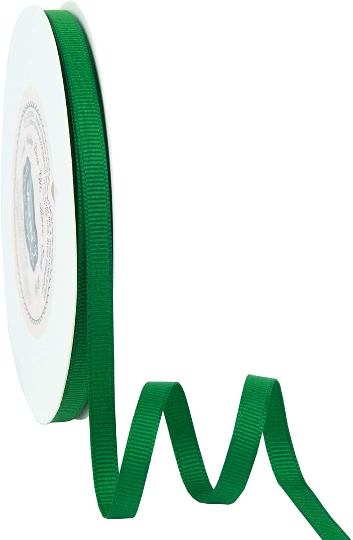 VATIN Solid 1/4 Grosgrain Ribbon, 50-Yard, Emerald Green