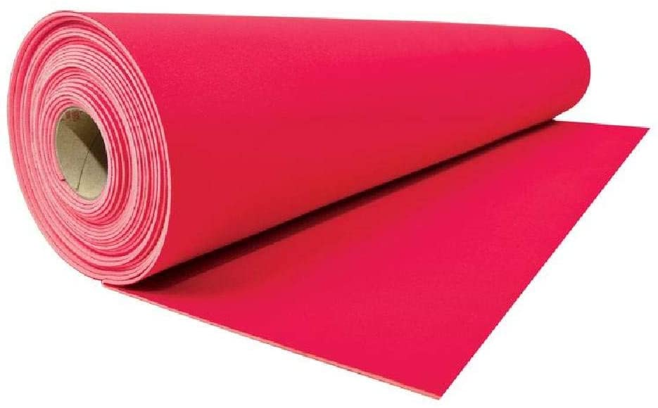 Neoprene Floor Runner (RED) - 1.5mm H x 27in W x 30ft L