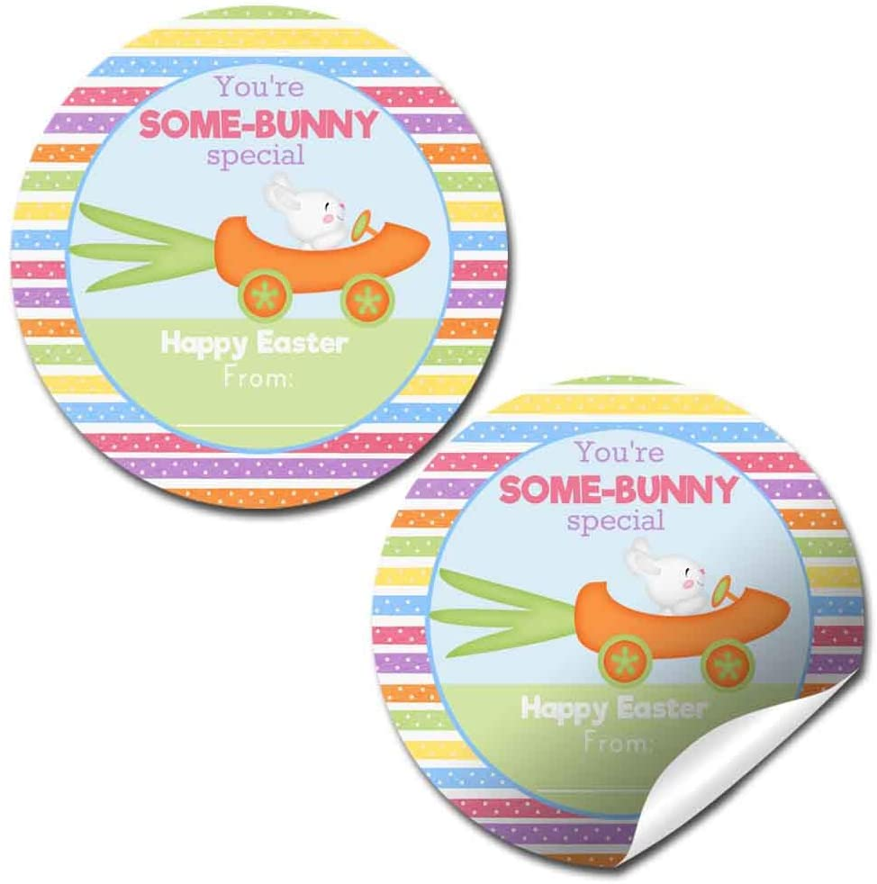 Some Bunny Special Easter Themed Gift Tag Sticker Labels for Kids, 40 2