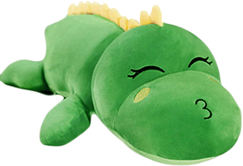 Ankecity Christmas Kids Birthday Plush Stuffed Soft Pillow Dinosaur Toys for Boys Girls Toddler Kids (Green-1)