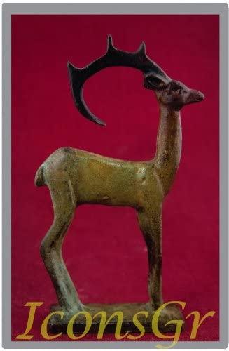 Ancient Greek Bronze Museum Statue Replica of Deer (1793)