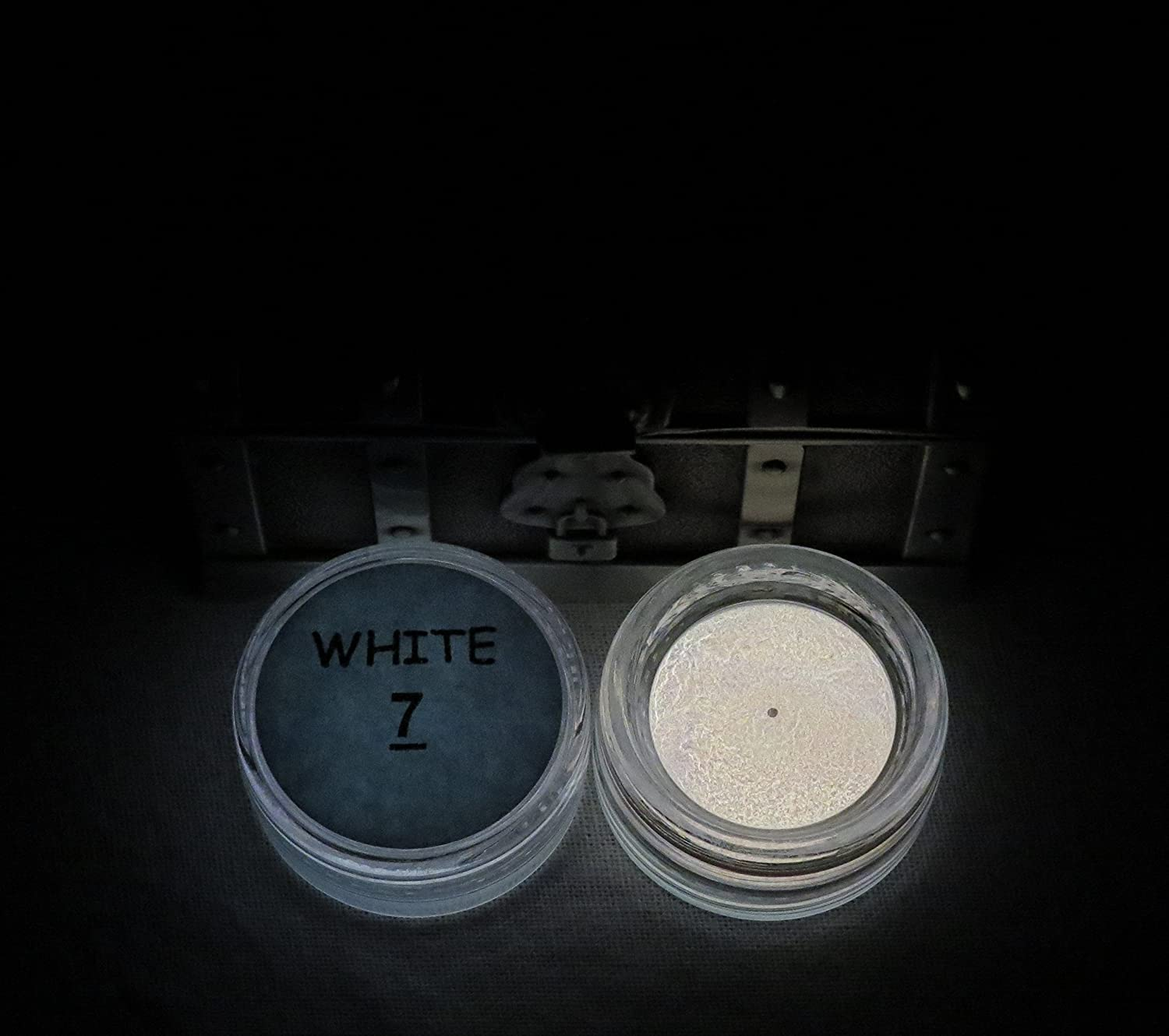PRESTIGE GLOW IN THE DARK Pigment Powder. Longest Lasting Glow in The Dark Powder. Recommended for All COLORLESS Medium. Ink. Paint. Plastic Resin. Glass. ETC. (1/2 Ounce, White)