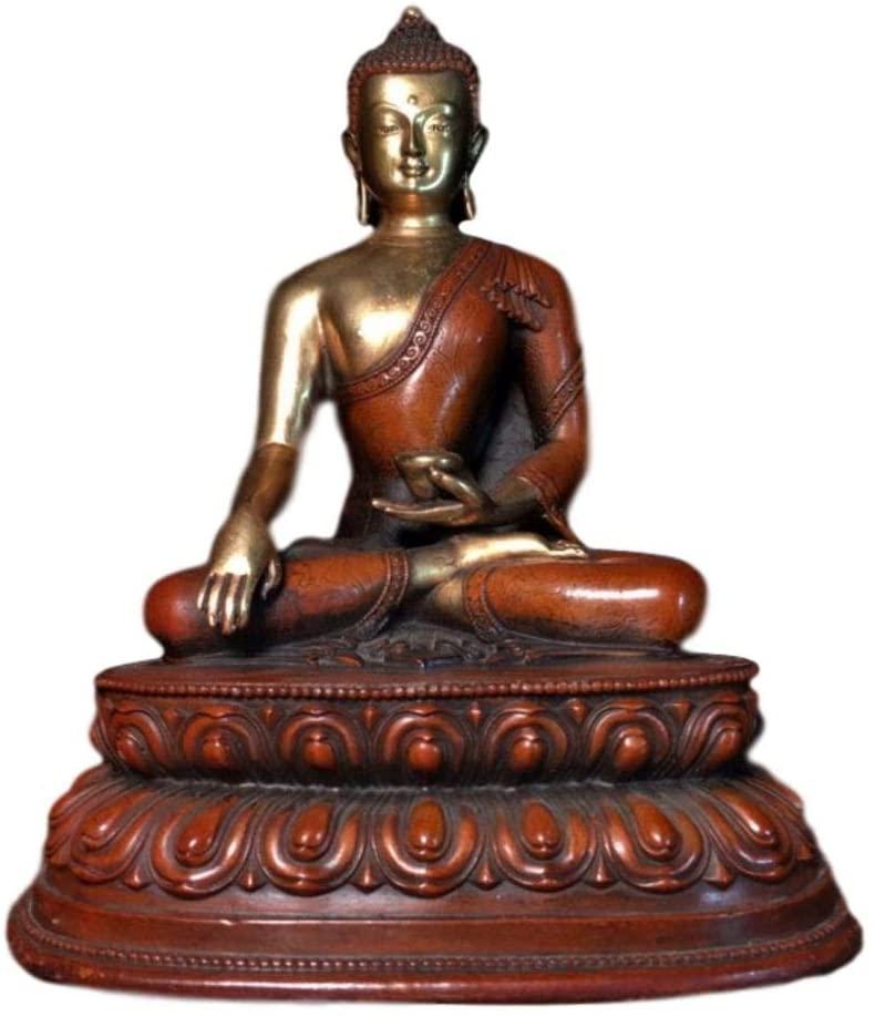 LAOJUNLU Gilt Bronze Buddha Statue, Medicine Buddha Imitation Antique Bronze Masterpiece