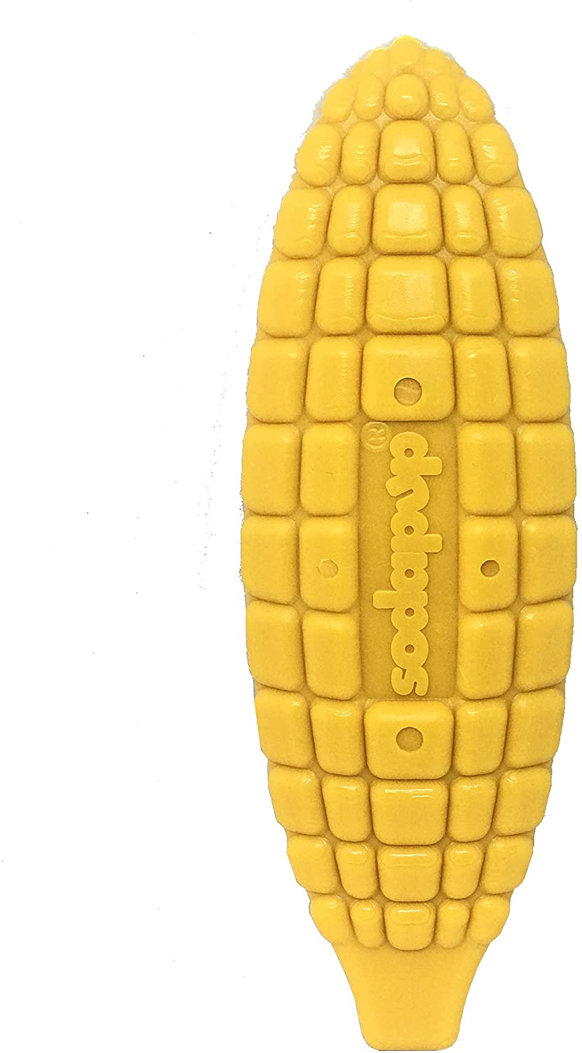 SodaPup Corn On The Cob Dog Toy - Tough Dog Toys - Durable Dog Toys - Dog Chews for Aggressive Chewers - Chew Toy - Enrichment Toy for Dogs