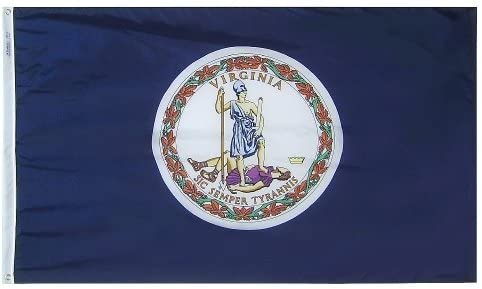 All Star Flags 5x8' Virginia Nylon State Flag - All Weather, Durable, Outdoor Nylon Flag