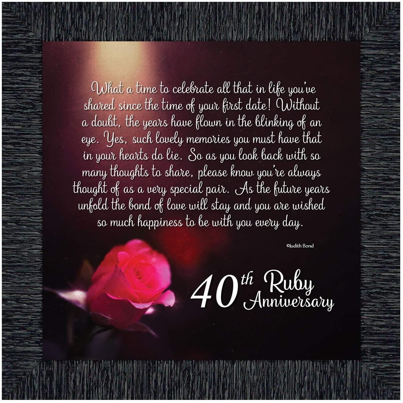 Crossroads Home Décor Ruby Anniversary, Ruby Wedding Anniversary Picture Frame, 40th Wedding Anniversary, 8603CH