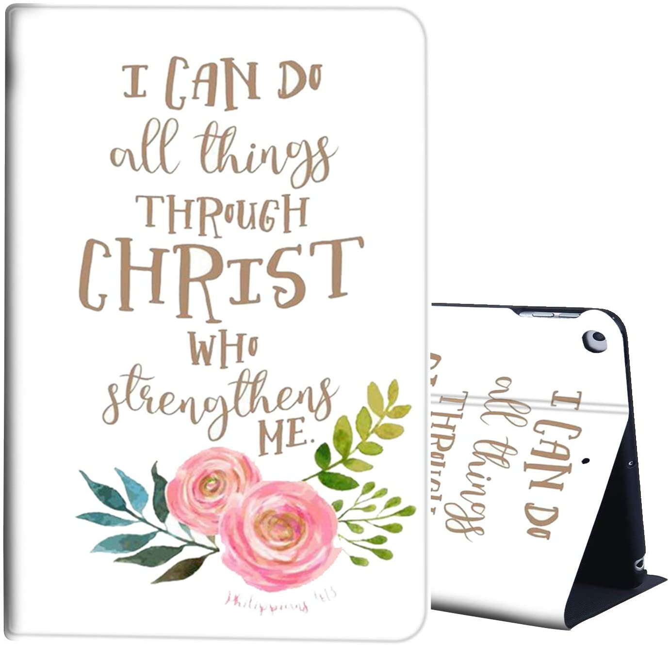 Case for iPad Mini 5 Case 2019 5th Generation iPad Mini,AIRWEE Slim Stand Protective Case Auto Sleep/Wake and Viewing/Typing Stand for 2019 Mini iPad 5 7.9 Inch,Quote Philippians 4:13