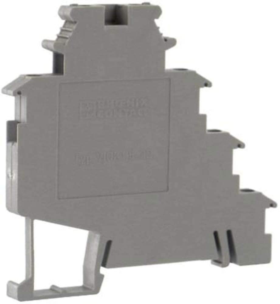 Terminal Block Connector; Sensor/Actuator; Screw; 4 Lvl; 6; Gray; 24-12 AWG; 24 A; 250 V, Pack of 2