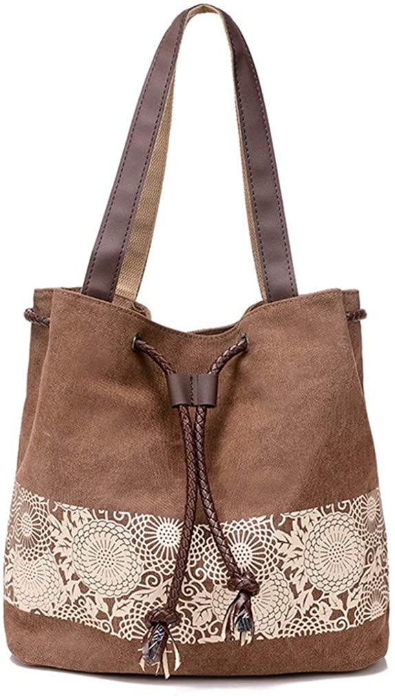 Lace Casual Handbag Shoulder Bag Tote Bag Travel Bag Cotton Canvas bag Roomy purse Durable Lightweight women