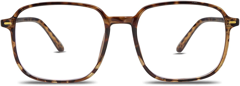 VANLINKER Blue Light Blocking Glasses Fashion Square Eyeglasses TR90 Frame Filter Anti Eyestrain & UV Glare Computer