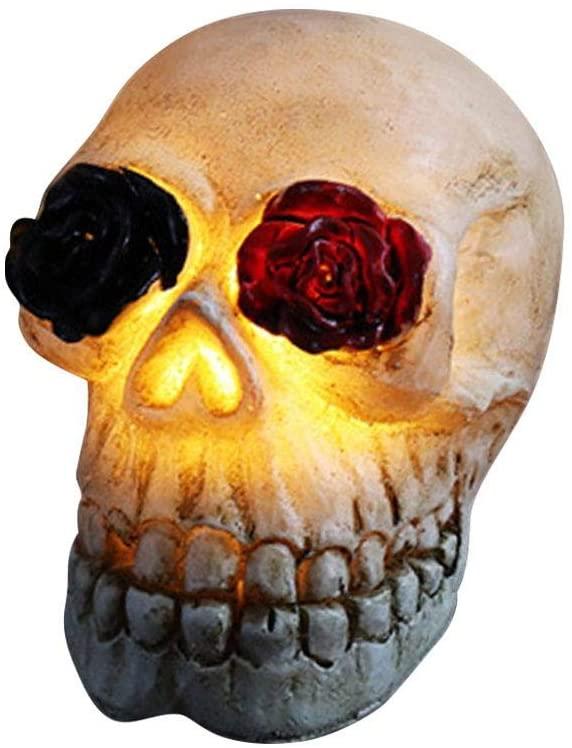 Halloween Simulation Skull - Resin Realistic Replica Human Skull Glowing Party Costume Prop