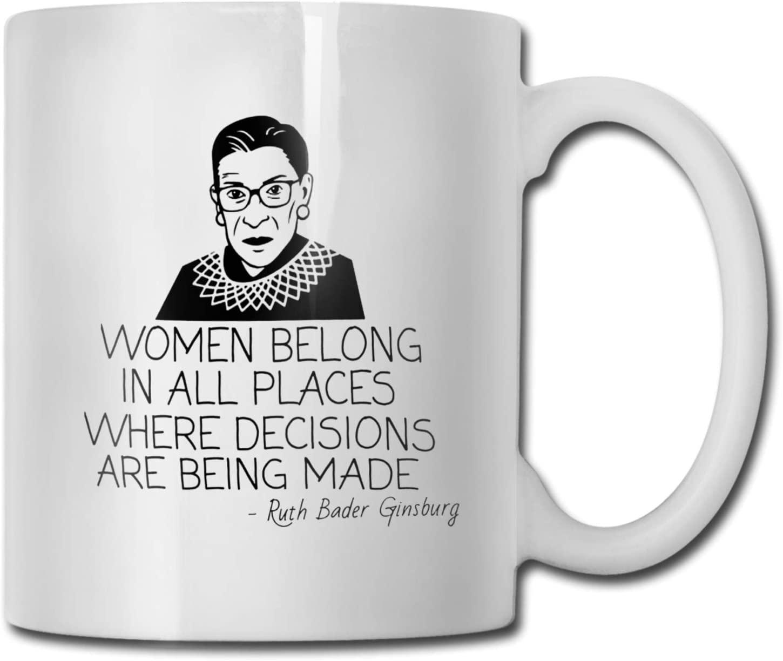 RBG Notorious Coffee Mug Ruth Bader Ginsburg Feminist Mugs for Women Lawyers Law Students Judges White Ceramic Tea Cup 11oz (Coffee Mug-3)