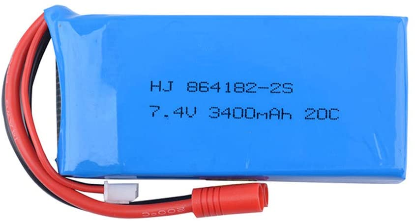 Kariwell Replacement Drone Battery 7.4V 3400mAH 2S 20C Battery Compatible with Syma X8C/X8W/X8G/X8HG Drone RC Model, Professional Drone Parts, Fast Charge Time, Extended Drone Usage