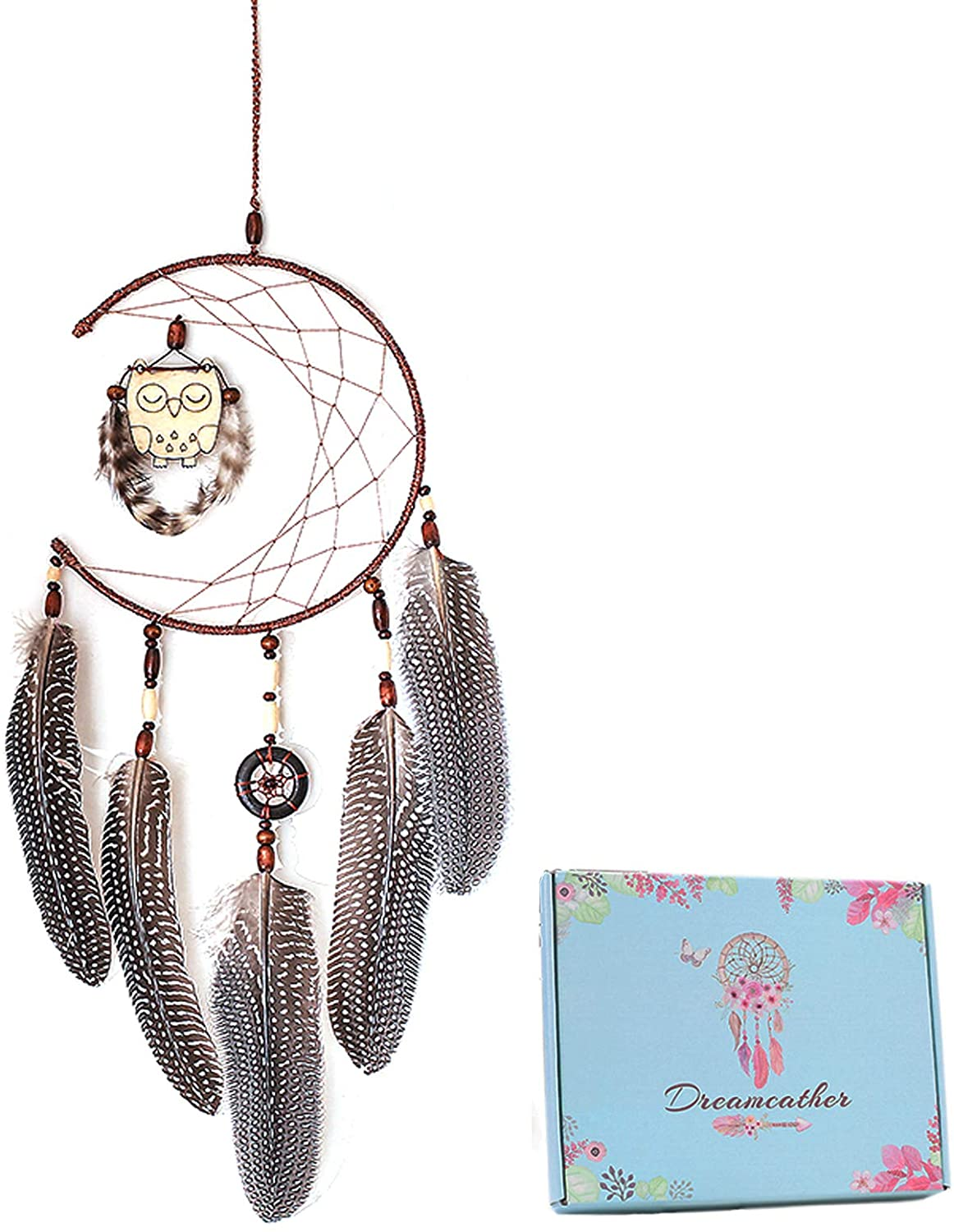 Dream Catcher for Kids, Owl Feather Wall Hanging Home Decoration Decor Ornament Craft