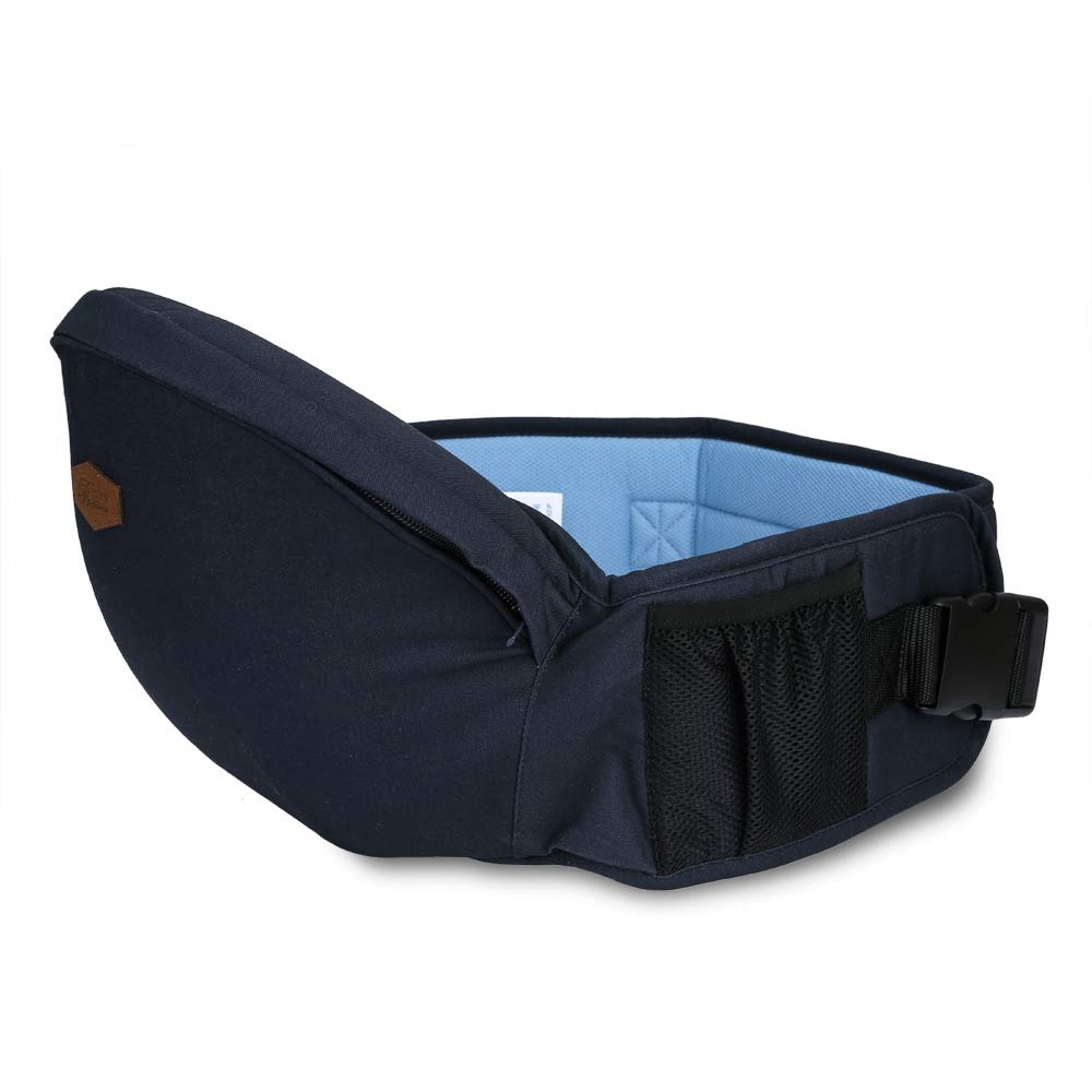 Baby Hip Seat Carrier, Baby Infant Hip Seat Carrier with Pockets, Toddler Waist Seat Stool Carrier Convinient Baby Front Carrier, for Alone Nursing from Infant to Toddlers Blue