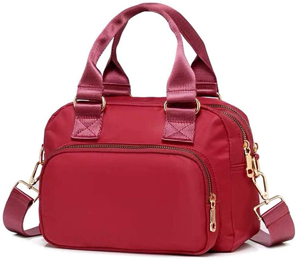 Nylon Shoulder Handbags for Women, SHINON Waterproof Multi Pocket Lightweight Purses and Cross-body Bags.