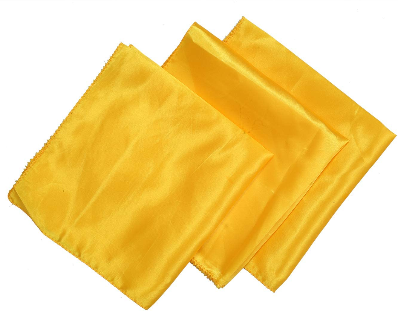VDS Table Napkins 20 X 20 Inch Square Satin Cloth Dinner Napkins for Wedding Party Decorations (Pack of 25) - Yellow Gold