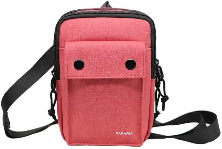 PAPARIA Crossbody Bag Shoulder Bag Messenger Bag Casual Sling Pack, Waterproof, RFID Blocking, Rosa
